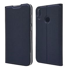 Coque Portefeuille Livre Cuir Etui Clapet L06 pour Huawei Y7 (2019) Bleu