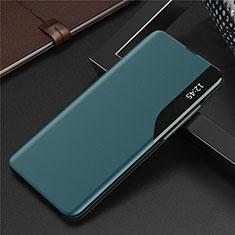 Coque Portefeuille Livre Cuir Etui Clapet L06 pour Huawei Y7a Cyan