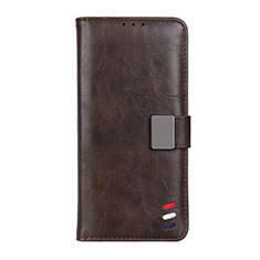 Coque Portefeuille Livre Cuir Etui Clapet L06 pour Motorola Moto G 5G Marron