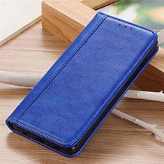 Coque Portefeuille Livre Cuir Etui Clapet L06 pour Motorola Moto G9 Power Bleu