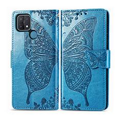 Coque Portefeuille Livre Cuir Etui Clapet L06 pour Oppo A15 Bleu Ciel