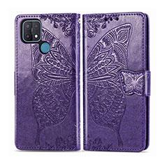Coque Portefeuille Livre Cuir Etui Clapet L06 pour Oppo A15 Violet