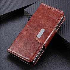Coque Portefeuille Livre Cuir Etui Clapet L06 pour Oppo Reno5 Pro+ Plus 5G Marron