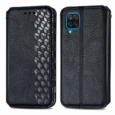 Coque Portefeuille Livre Cuir Etui Clapet L06 pour Samsung Galaxy A12 Noir