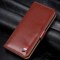 Coque Portefeuille Livre Cuir Etui Clapet L06 pour Samsung Galaxy A41 Marron