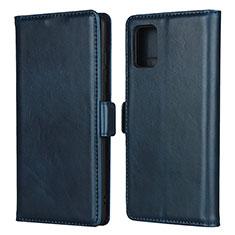 Coque Portefeuille Livre Cuir Etui Clapet L06 pour Samsung Galaxy A51 4G Bleu