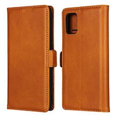 Coque Portefeuille Livre Cuir Etui Clapet L06 pour Samsung Galaxy A51 4G Brun Clair