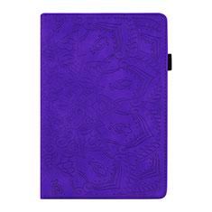 Coque Portefeuille Livre Cuir Etui Clapet L06 pour Samsung Galaxy Tab S6 Lite 4G 10.4 SM-P615 Violet