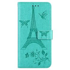 Coque Portefeuille Livre Cuir Etui Clapet L06 pour Sony Xperia 8 Lite Cyan