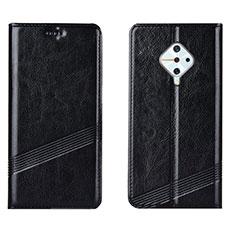 Coque Portefeuille Livre Cuir Etui Clapet L06 pour Vivo X50 Lite Noir