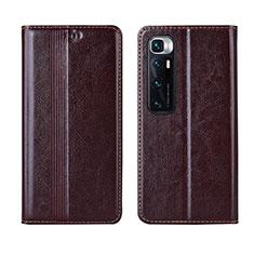 Coque Portefeuille Livre Cuir Etui Clapet L06 pour Xiaomi Mi 10 Ultra Marron