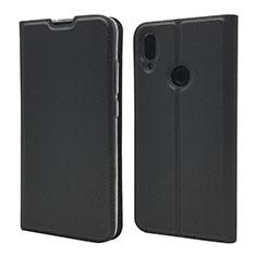 Coque Portefeuille Livre Cuir Etui Clapet L06 pour Xiaomi Redmi Note 7 Noir