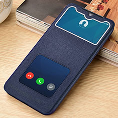 Coque Portefeuille Livre Cuir Etui Clapet L06 pour Xiaomi Redmi Note 8 Pro Bleu