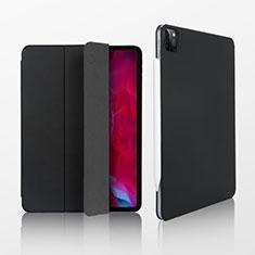 Coque Portefeuille Livre Cuir Etui Clapet L07 pour Apple iPad Pro 12.9 (2020) Noir