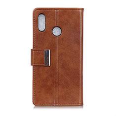 Coque Portefeuille Livre Cuir Etui Clapet L07 pour Asus Zenfone 5 ZS620KL Marron