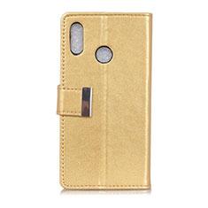 Coque Portefeuille Livre Cuir Etui Clapet L07 pour Asus Zenfone 5 ZS620KL Or