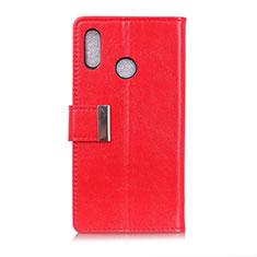 Coque Portefeuille Livre Cuir Etui Clapet L07 pour Asus Zenfone 5 ZS620KL Rouge