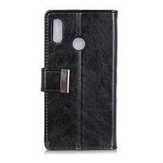 Coque Portefeuille Livre Cuir Etui Clapet L07 pour Asus Zenfone Max ZB555KL Noir
