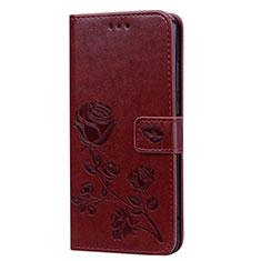 Coque Portefeuille Livre Cuir Etui Clapet L07 pour Huawei Honor V10 Lite Marron