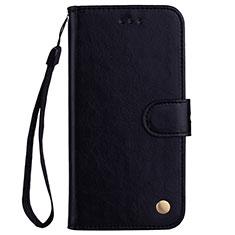 Coque Portefeuille Livre Cuir Etui Clapet L07 pour Huawei P20 Lite Noir