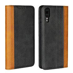 Coque Portefeuille Livre Cuir Etui Clapet L07 pour Huawei P20 Noir