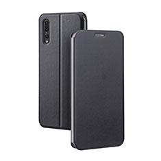 Coque Portefeuille Livre Cuir Etui Clapet L07 pour Huawei P20 Pro Noir