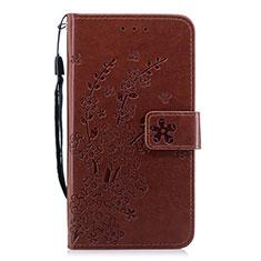 Coque Portefeuille Livre Cuir Etui Clapet L07 pour Huawei P30 Marron