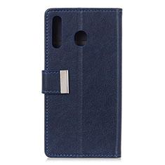 Coque Portefeuille Livre Cuir Etui Clapet L07 pour Huawei Y6p Bleu