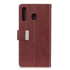 Coque Portefeuille Livre Cuir Etui Clapet L07 pour Huawei Y6p Marron