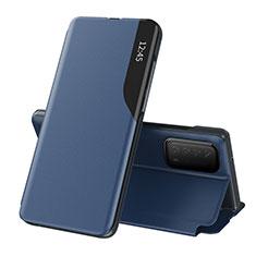 Coque Portefeuille Livre Cuir Etui Clapet L07 pour Huawei Y7a Bleu