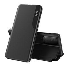 Coque Portefeuille Livre Cuir Etui Clapet L07 pour Huawei Y7a Noir