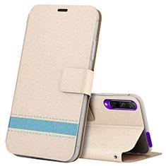 Coque Portefeuille Livre Cuir Etui Clapet L07 pour Huawei Y9s Or