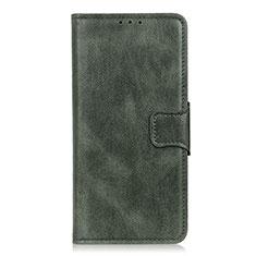 Coque Portefeuille Livre Cuir Etui Clapet L07 pour LG K22 Vert