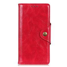 Coque Portefeuille Livre Cuir Etui Clapet L07 pour Motorola Moto G Fast Rouge