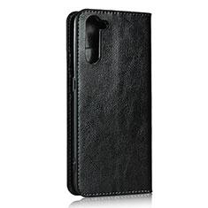 Coque Portefeuille Livre Cuir Etui Clapet L07 pour Oppo Reno3 A Noir