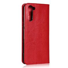 Coque Portefeuille Livre Cuir Etui Clapet L07 pour Oppo Reno3 A Rouge