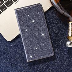 Coque Portefeuille Livre Cuir Etui Clapet L07 pour Samsung Galaxy S20 5G Bleu