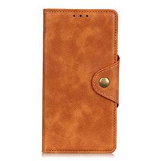 Coque Portefeuille Livre Cuir Etui Clapet L07 pour Samsung Galaxy S21 Ultra 5G Marron