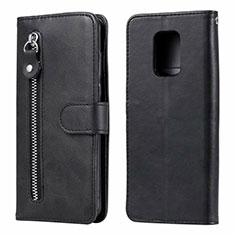 Coque Portefeuille Livre Cuir Etui Clapet L07 pour Xiaomi Redmi Note 9 Pro Noir