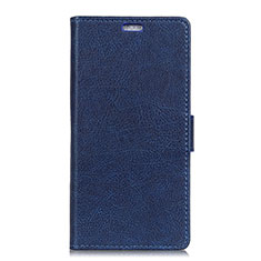 Coque Portefeuille Livre Cuir Etui Clapet L08 pour Asus Zenfone 5 ZE620KL Bleu