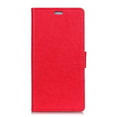 Coque Portefeuille Livre Cuir Etui Clapet L08 pour Asus Zenfone 5 ZE620KL Rouge