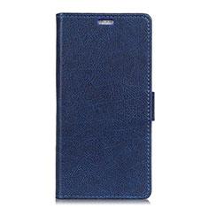 Coque Portefeuille Livre Cuir Etui Clapet L08 pour Asus Zenfone 5 ZS620KL Bleu