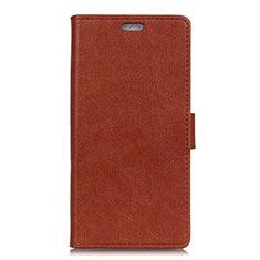Coque Portefeuille Livre Cuir Etui Clapet L08 pour Asus Zenfone 5 ZS620KL Marron
