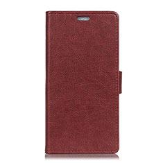 Coque Portefeuille Livre Cuir Etui Clapet L08 pour Asus Zenfone 5 ZS620KL Vin Rouge