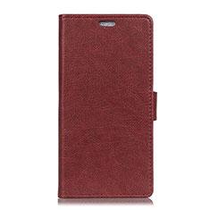 Coque Portefeuille Livre Cuir Etui Clapet L08 pour Asus Zenfone Max ZB555KL Marron