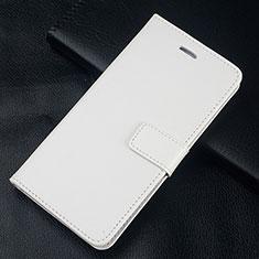 Coque Portefeuille Livre Cuir Etui Clapet L08 pour Huawei Honor 10 Lite Blanc