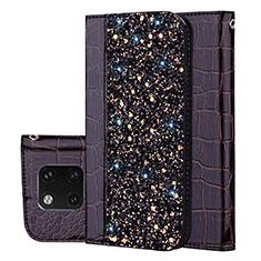 Coque Portefeuille Livre Cuir Etui Clapet L08 pour Huawei Mate 20 Pro Noir