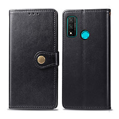 Coque Portefeuille Livre Cuir Etui Clapet L08 pour Huawei P Smart (2020) Noir
