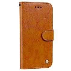 Coque Portefeuille Livre Cuir Etui Clapet L08 pour Huawei P20 Pro Orange