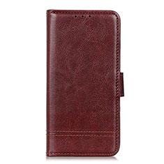 Coque Portefeuille Livre Cuir Etui Clapet L08 pour Huawei Y6p Marron